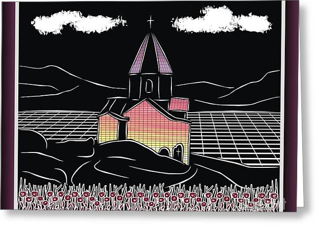 Armenian Church On The Shore Of Lake Sevan Greeting Card
