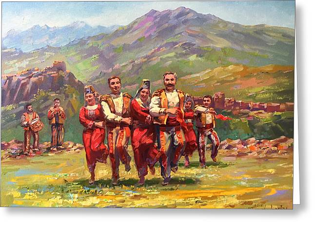 Armenian greeting cards fine art america armenian dance of armenian mountains greeting card m4hsunfo