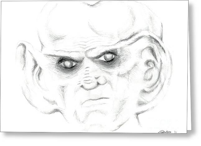 Voyager Drawings Greeting Cards - Armin Greeting Card by Kim Sy Ok