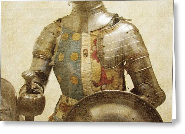 Armor Hot Dog Greeting Card by Kevin  Sherf