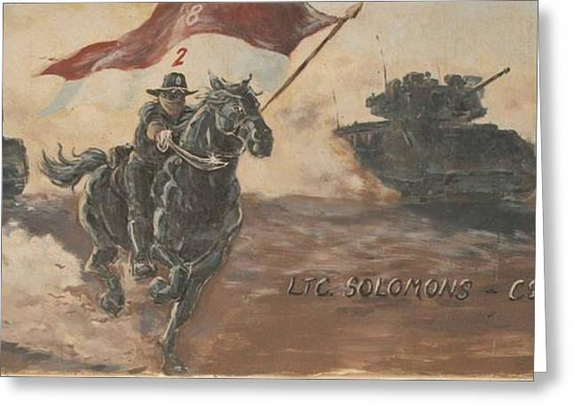 Armored Cavalry Greeting Card by Unknown