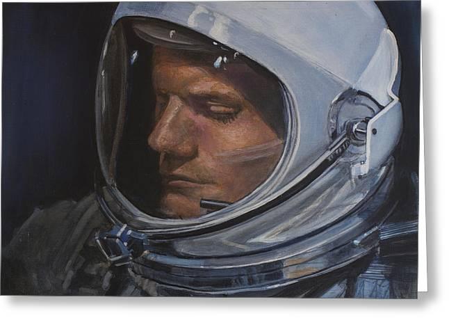 Armstrong- Gemini Viii Greeting Card by Simon Kregar