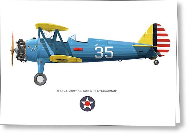 Army Air Corps Pt-17 Greeting Card