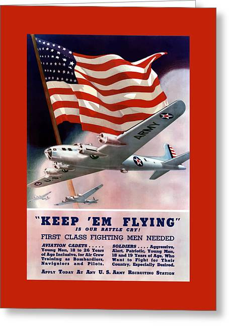 Army Air Corps Recruiting Poster Greeting Card