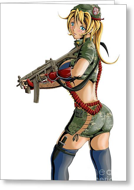 Army Girl B Greeting Card by Tuan HollaBack