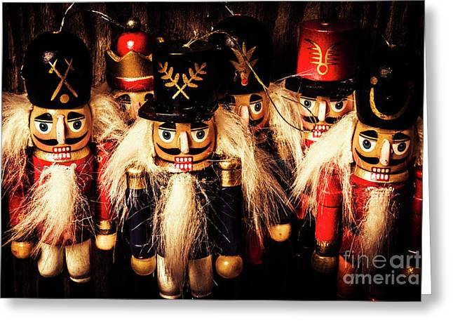Army Of Wooden Solders Greeting Card by Jorgo Photography - Wall Art Gallery