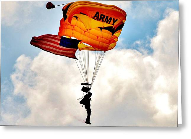 Army Paratrooper 2 Greeting Card