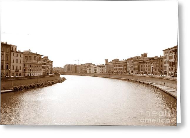 Arno River In Pisa Greeting Card