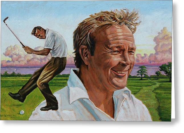 Arnold Palmer Greeting Card by John Lautermilch