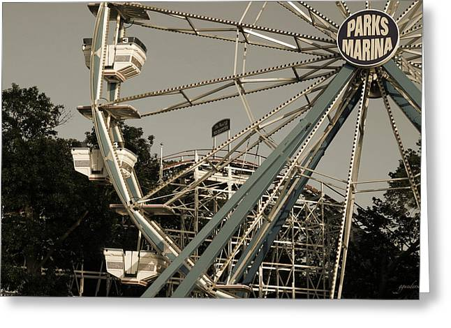 Arnolds Park Ferris Wheel Greeting Card by Gary Gunderson