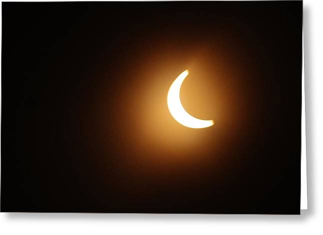 Around Peak Time Eclipse Greeting Card