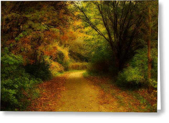 Greeting Card featuring the photograph Around The Bend - Landscape by Anthony Rego