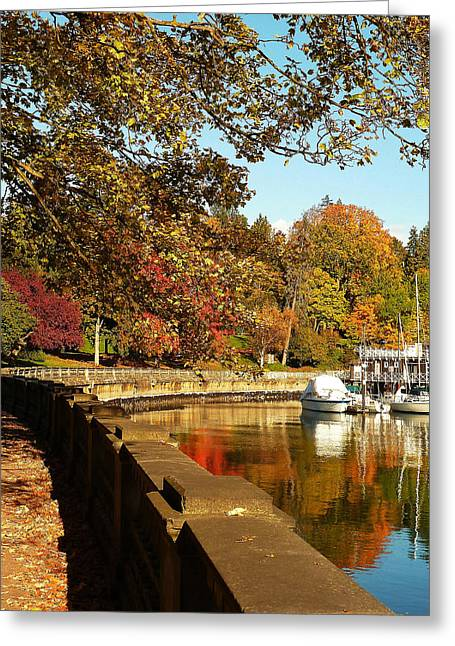 Around The Bend Greeting Card by Connie Handscomb