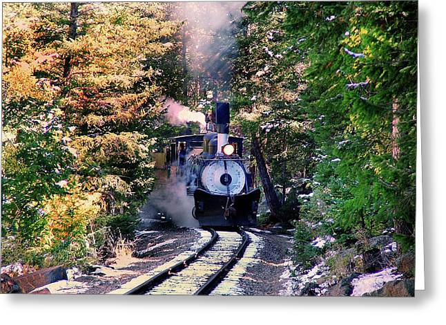 Around The Bend Greeting Card by Ken Smith