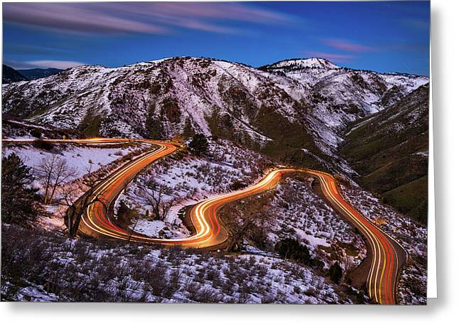 Around The Bends Greeting Card by Darren White