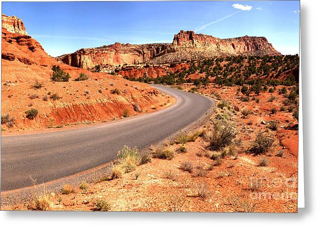 Around The Corner At Capitol Reef Greeting Card