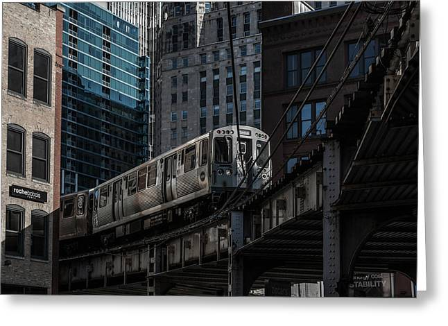 Around The Corner, Chicago Greeting Card by Reinier Snijders