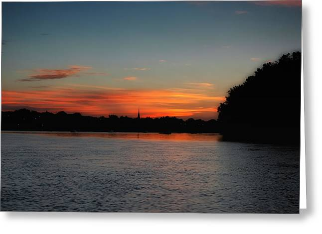 Around The River Bend Greeting Card by Ross Powell