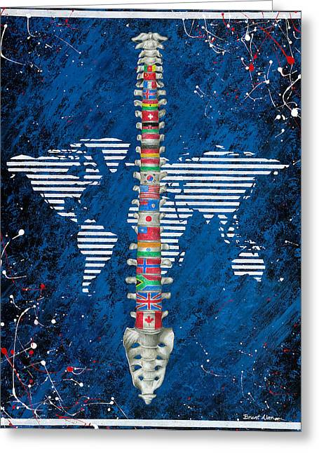Around The World Greeting Card by Brent Buss