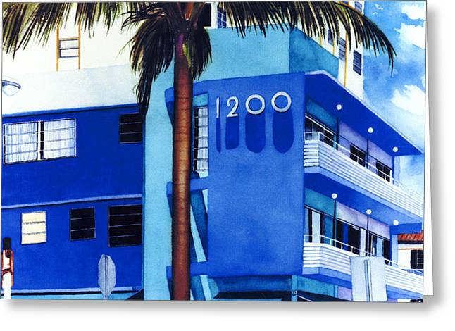 Around Twelve Noon In South Beach Greeting Card by Maureen Piccirillo