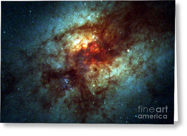Arp 220, Ultraluminous Infrared Galaxies Greeting Card by Science Source