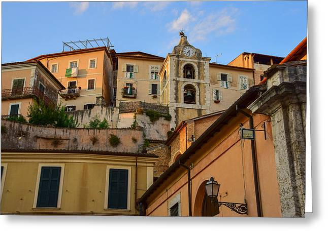 Greeting Card featuring the photograph Arpino Colors by Dany Lison