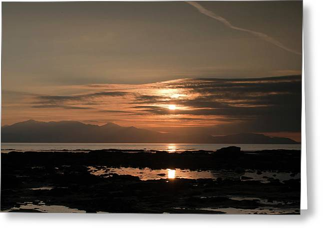 Arran Sunset Greeting Card by Sam Smith