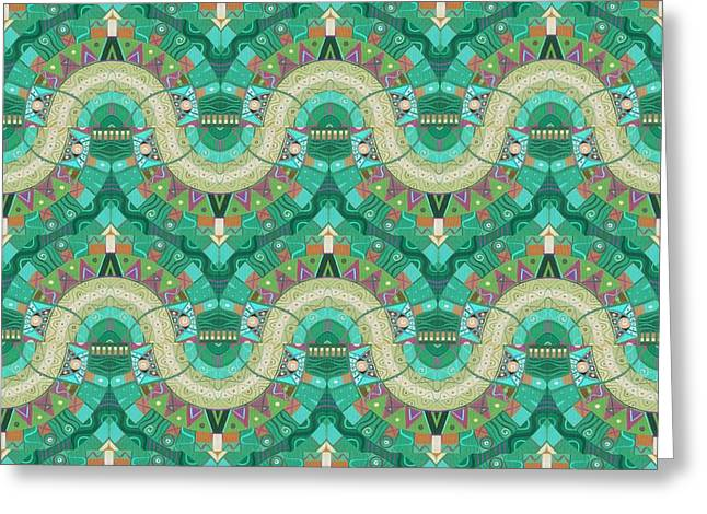 Arrangement 3 Times 3 Inverted - T J O D 37 Compilation Greeting Card by Helena Tiainen