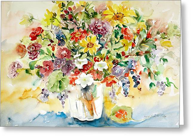 Arrangement IIi Greeting Card by Alexandra Maria Ethlyn Cheshire
