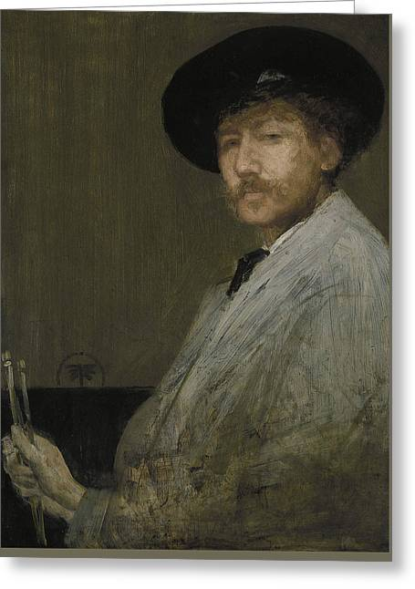 Arrangement In Gray Portrait Of The Painter Greeting Card by James Abbott McNeill Whistler