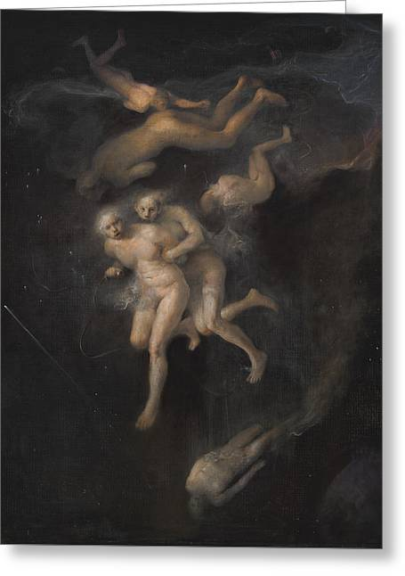 Arrest In Space Greeting Card by Odd Nerdrum