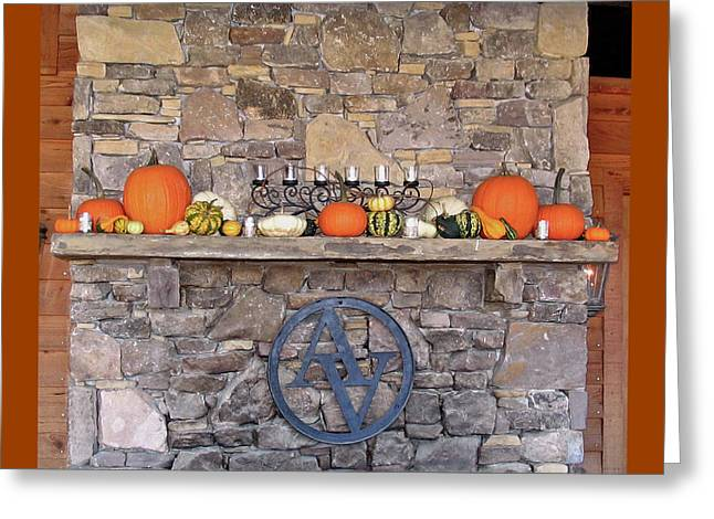 Arrington Vineyards Fireplace Mantle Greeting Card by Marian Bell