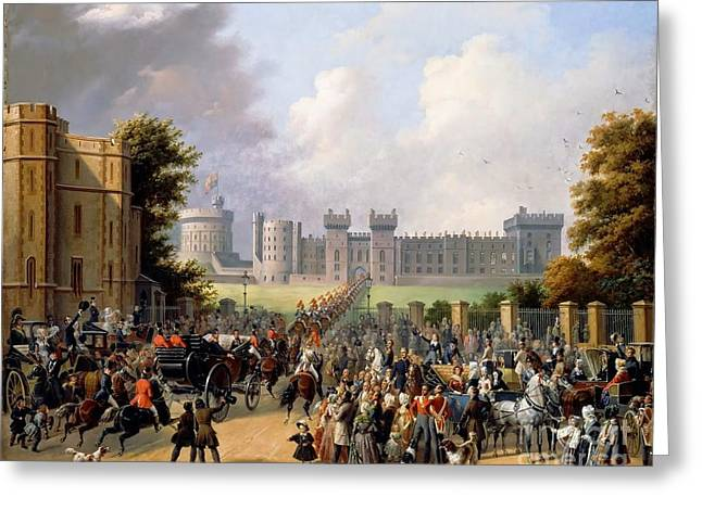 Arrival Of King Louis Greeting Card
