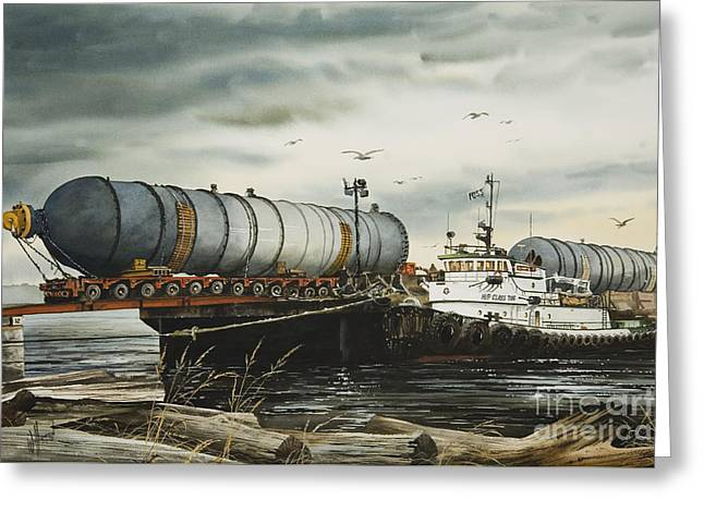 Arrival Of Reactor Vessels Greeting Card by James Williamson