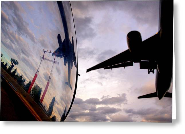 Russ Styles Greeting Cards - Arrival...  Greeting Card by Russell Styles