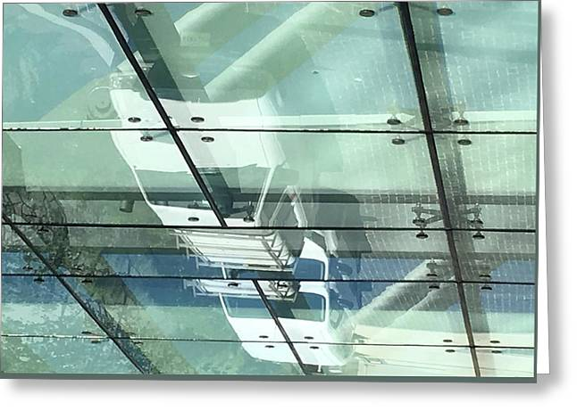 Arrivals Under Glass Greeting Card by Richard Carlton London