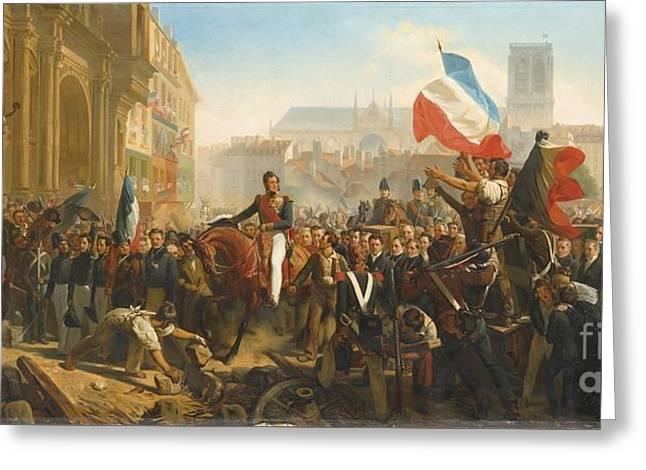 Arrivee De Louis Philippe Sur Greeting Card