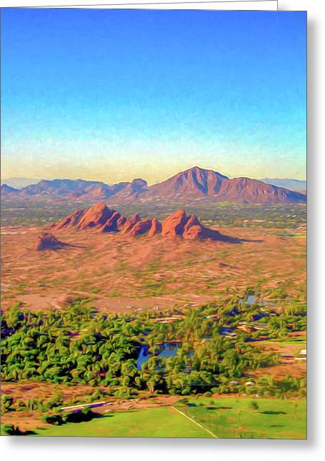 Arriving In Phoenix Digital Watercolor Greeting Card