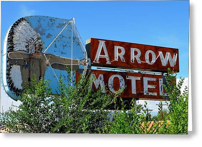Arrow Motel Greeting Card