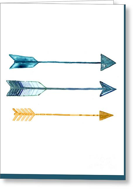 Arrow Watercolor Art Print Painting Greeting Card