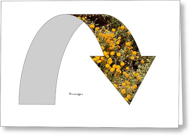 Arrow With Flowers Greeting Card