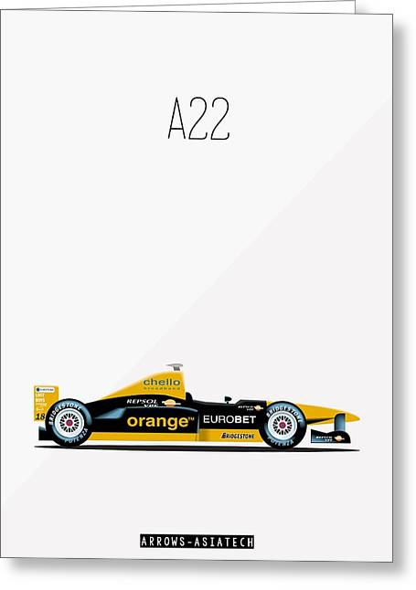 Arrows Asiatech A22 F1 Poster Greeting Card