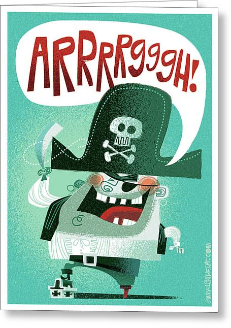 Arrrrggh Greeting Card