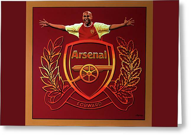 Arsenal London Painting Greeting Card