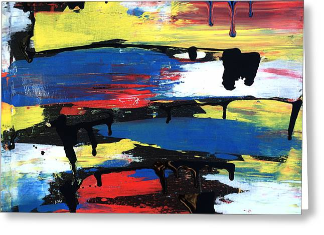 Art Abstract Painting Modern Black Greeting Card