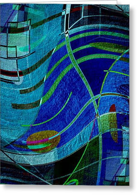 Greeting Card featuring the digital art Art Abstract With Culture by Sheila Mcdonald
