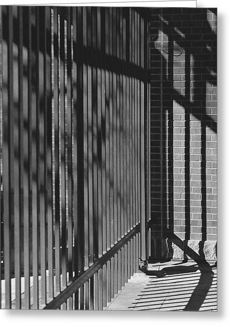 Art And Design Center Security Gate Greeting Card by Jim Furrer