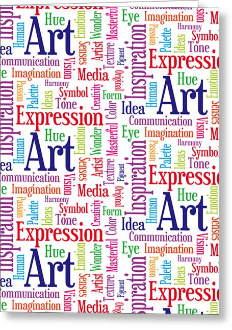 Art And Inspiration Pattern Greeting Card