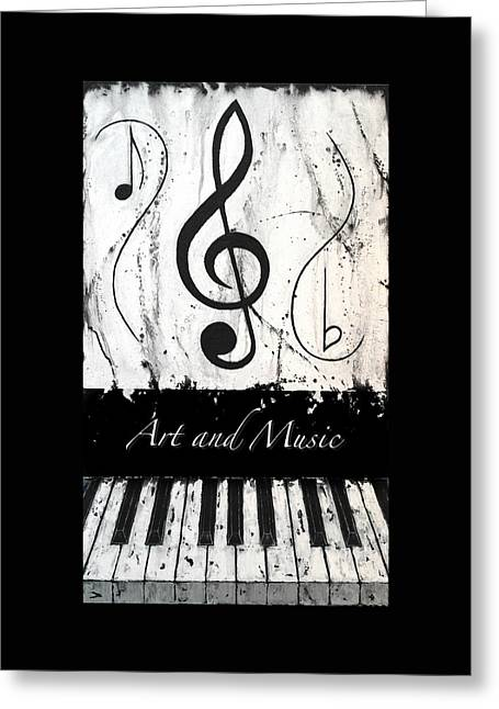 Art And Music-music In Motion Greeting Card