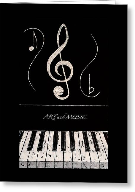 Art And Music Greeting Card